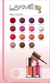 lakme 9 to 5 office stylist range nail paints all shades chart
