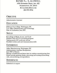 Sample Student Resume For Internship