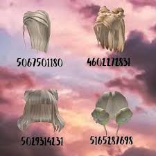 100+ id codes for roblox (girls) aesthetic hats, hair and bag accessory code for bloxburg and more part 3(iirees) rhs 2 hair codes roblox.2(iirees) cute pajama codes for girls :3 roblox pants and shirt codes for games / clothes ids brown/blonde hair codes for bloxburg part 2! Blonde Hair Codes Cute Blonde Hair Black Hair Roblox Blonde Hair Roblox