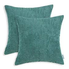 soft throw pillows. Brilliant Throw CaliTime Pack Of 2 Throw Pillow Covers Cases For Couch Sofa Bed  Comfortable Supersoft Corduroy Corn Striped Both Sides 18 X Inches Teal On Soft Pillows