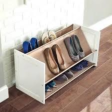 shoe rack multi level 3 tier pair closetmaid bracket