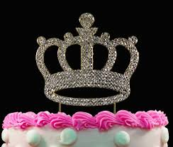 Gold Crown Birthday Cake Toppers Bling Princess Cake Topper Birthday
