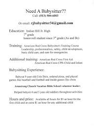 babysitter resume sample best business template within babysitter resume 13569 babysitting sample resume