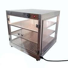 heatmax commercial countertop food warmer display case with water tray 24x24x24 1
