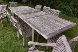 sold smith hawken teak table
