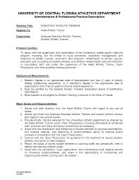 personal training resume sample lovely certified athletic trainer