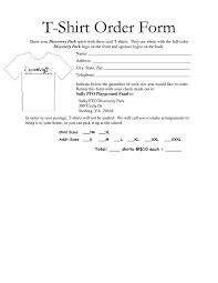 On The Job Training Form Impressive 48 Awesome Tshirt Order Form Template Free Images Projects To Try