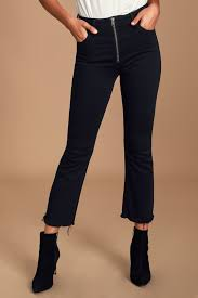 Hidden Jeans Size Chart Happi Black High Rise Cropped Flare Jeans
