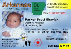 License Birth Driver's Announcements And Invitations Personalized