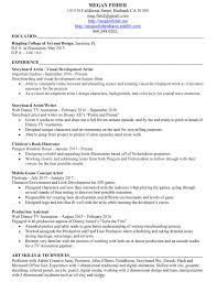 resume Walt Disney Resume resume megan fisher illustration