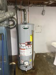 ao smith gas water heater. AO Smith Water Heater Installed With Solid Gas Line. Ao