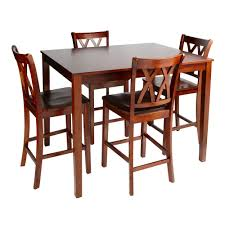 Walnut Dining High Top Table And Chairs Piece Set Christmas - Walnut dining room furniture