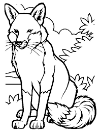 Small Picture Coloring Page Fox animals coloring pages 1