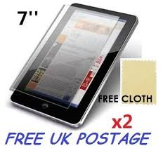 2x Universal Android Windows <b>Tablet PC Screen Protector</b> Cover ...