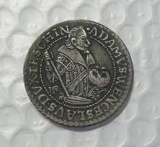 US$ 3 - Silesia Teschen Thaler - Adam Wenzel 1609 Copy Coin commemorative  coins - m.dashumiaocoin.com