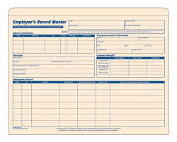 Employee Record Form Employee Record Master File Manila Tag 24 EAPK 2