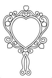 fancy hand mirror drawing. pin mirror clipart fancy hand #1 drawing