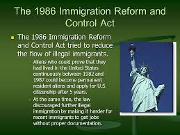 chapter  migration what geographers study geographers document  the  immigration reform and control act the  immigration reform and control act tried to