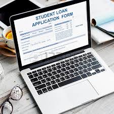 Student Loan Application Form Concept Stock Photo, Picture And ...