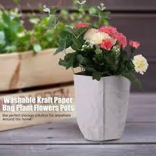 Paper Flower Pots Details About Washable Multifunction Kraft Paper Bag Plant Flowers Pots Home Storage Basket