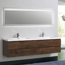modern bathroom furniture. Riddle Wall Mounted Modern Bathroom Vanity (Double Sink, 84\u0027\u0027, Rosewood) Furniture
