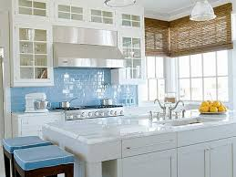 Concept Kitchens With White Cabinets And Blue Walls Kitchen Ideas Inside Decor