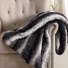 Quilted Throw Blankets For Less | Overstock.com & Christian Siriano 60 x 70 Oversized Black Ombre Faux Fur Filled Throw Adamdwight.com