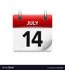 daily calendar. Delighful Calendar July 14 Flat Daily Calendar Icon Date Vector Image Intended Daily Calendar I