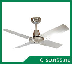 cf13004ss316 ceiling fan 85w 1300mm 4 x 316 stainless steel blades hang sure 1