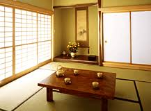 A typical Japanese-style room.