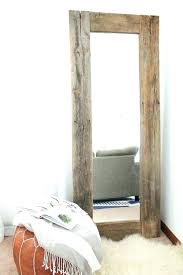 beautiful wooden wall mirror mirrors big rustic wood frame large kids room furniture