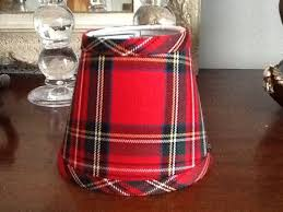 tartan lamp shades red chandelier lampshade plaid shade 6