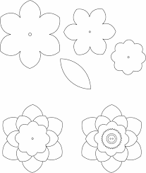 6 Petal Printable Flower Template 6 petal printable flower template templatezet on free templates for contracts of employment