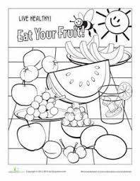 This coloring page is a helps kids to make healthy food choices. Fruit Worksheet Education Com Food Coloring Pages Fruit Coloring Pages Food Coloring