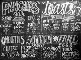 Chalkboard Menu Board Restaurant Chalk Menu Board