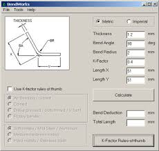 Sheet Metal Bend Deduction Chart
