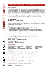 English Teacher resume 5 ...