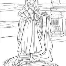 Small Picture TANGLED coloring pages 0 free Disney printables for kids to