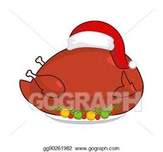 plate of food with chicken clipart. Delighful Chicken Christmas Fowl On Plate With Vegetables Fried Chicken In Festive Red Hat  Holiday Food For New Year On Plate Of Food With Chicken Clipart I