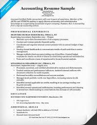 Accounting Resume Skills Beauteous Accounting Skills Resume Accounting Cpa Resume Sample Resume Companion