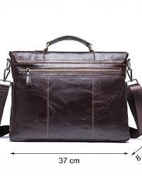 contact s men s briefcase genuine leather business handbag laptop casual large shoulder bag vintage messenger bags luxury bolsas