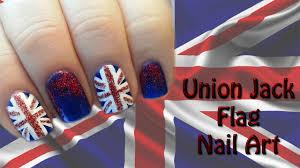 Union Jack (British) Flag Nail Art - Bandiera UK - YouTube