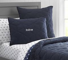 Solid Color Quilt | Pottery Barn Kids & Jersey Quilt, Twin, Navy Adamdwight.com