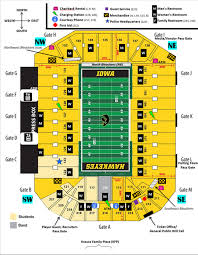 Seating Chart Kinnick Stadium Iowa City