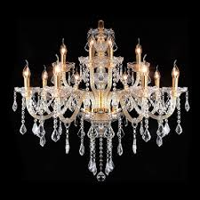 luminous and grand hand formed crystal arms 12 light crystal chandelier