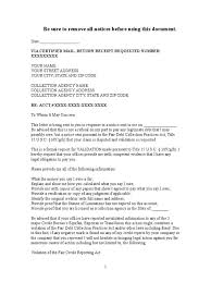 dept collection letter debt collection letter sample debt validation letter to collection