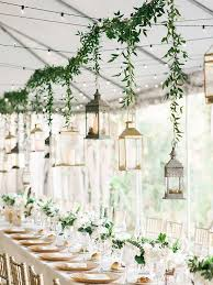 wedding decorations for tables. Easy Decor Idea, Opting For Small Centerpieces And Supplimenting With Hanging Garland Wedding Decorations Tables 3