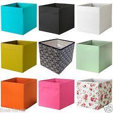 Ikea DRONA Fabric Storage Box Basket w/ Handle - Expedit & Kallax Shelving  Units