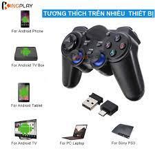 Tay cầm chơi game PC / Laptop / Điện Thoại / TV Android / TV Box - Tay cầm chơi  game không dây USB Bluetooth 2.4G