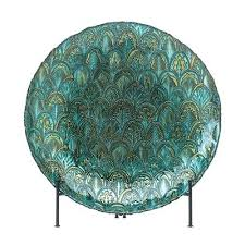 abstract design peacock decorative bowl in metallic greens and gold large glass plates decorating pumpkins hand
